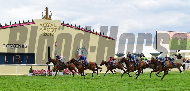 Out Do, Daniel Tudhope win the Wokingham Stakes, Royal Ascot, Ascot, UK, 6/24/17, photo by Mathea Kelley