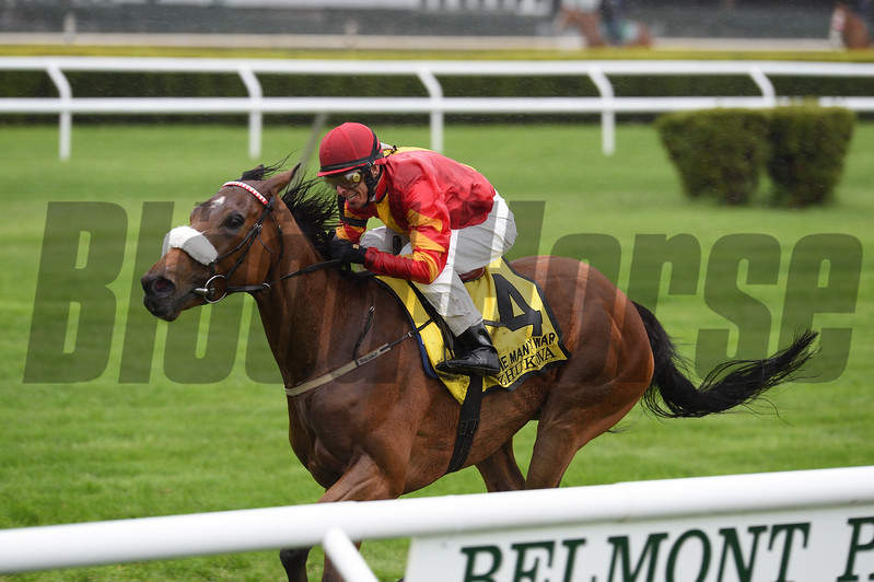 Zhukova wins the 2017 Man o' War.<br /> Coglianese Photos/Chelsea Durand