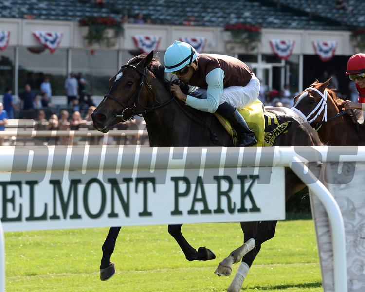 Lady Joan wins the 2017 New York Stallion Stakes<br /> Coglianese Photos/Joe Labozzetta