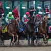 The field breaks the gate in the 64th running of The Woodward presented by NYRA Bets Saturday Sept. 1, 2017 at the Saratoga Race Course in Saratoga Springs, N.Y. (Skip Dickstein