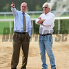 Dubai World Cup -Morning works 3/22/17, photo by Mathea Kelley/Dubai Racing Club<br /> Frank Gabriel and Bob Baffert