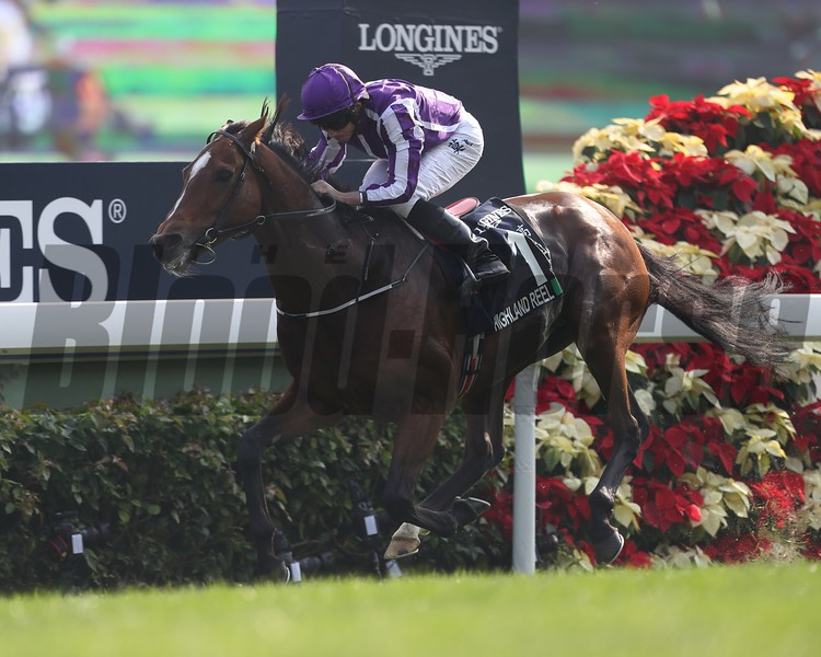 Highland Reel; Ryan Moore; LONGINES Hong Kong Vase; G1; Sha Tin Racecourse; December 10 2017