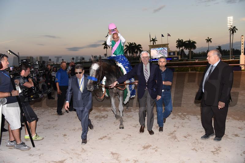 Arrogate wins the 2017 Pegasus World Cup<br /> Coglianese Photos