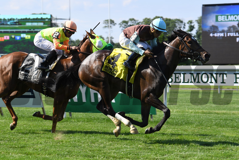 Lady Joan wins the 2017 New York Stallion Stakes<br /> Coglianese Photos/Viola Jasko