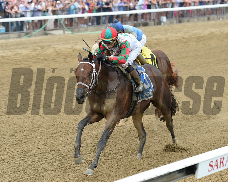 Firenze Fire wins the 2017 Sanford Stakes<br /> Coglianese Photos/Chelsea Durand