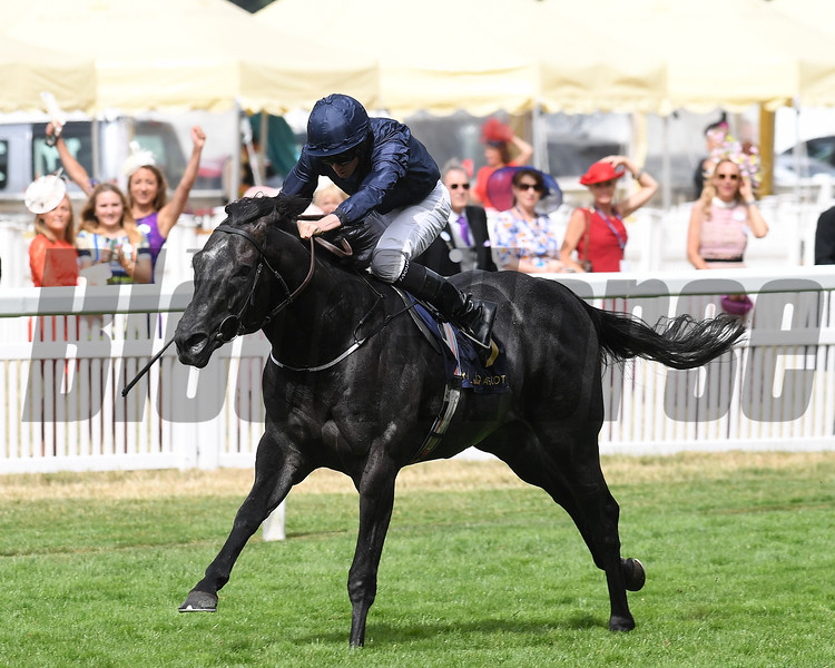 Caravaggio; Ryan Moore win the Group 1 Commonwealth Cup; Royal Ascot; Ascot; UK; 6/23/17 photo by Mathea Kelley;