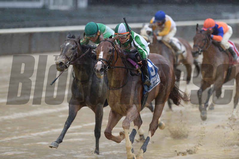 Highway Star wins the Ruffian Stakes (G2) at Belmont on May 13 2017