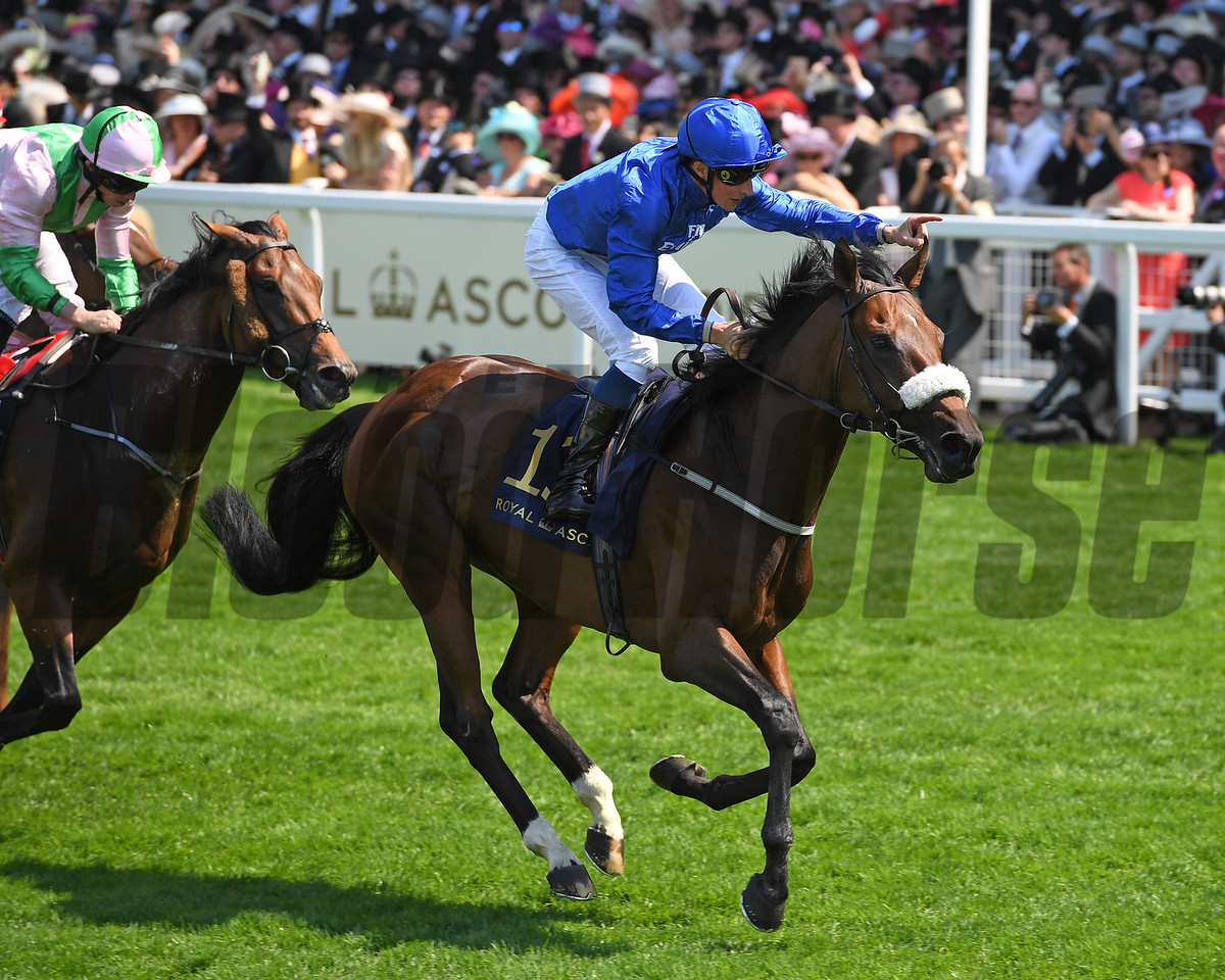 Ribchester, Wiliam Buick, win the Group 1 Queen Anne Stakes, Royal Ascot, Ascot, UK 6/20/17 photo by Mathea Kelley