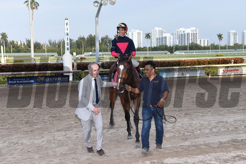 Dover Cliffs wins the $100; 000 Cutler Bay Handicap at Gulfstream Park on April 1, 2017