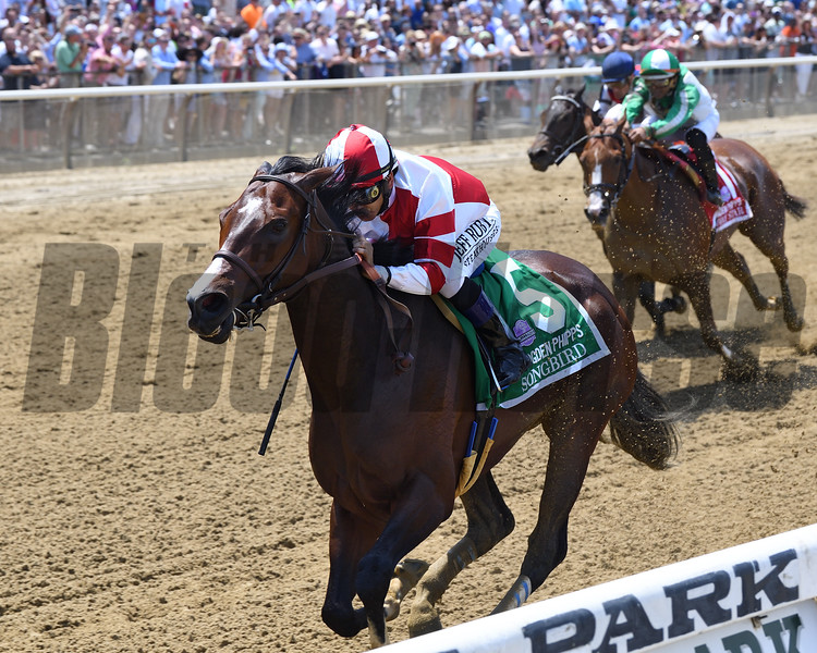 Songbird wins the 2017 Ogden Phipps Stakes<br /> Coglianese Photos/Chelsea Durand