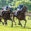 #10 Red Cardinal with jockey Eduardo Pedroza up holds and beats #13 St. Michel ridden by Irad Ortiz Jr. to win the 4th running of The Belmont Gold Cup Invitational GIII at Belmont Park June 9th in Elmont, N.Y.   Photo by Skip Dickstein