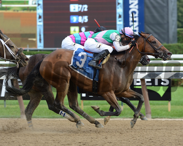 Paulassilverlining wins the 2017 Honorable Miss Handicap (G2)