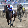 Unchained Melody wins the 2017 Mother Goose<br /> Coglianese Photos/Annette Jasko