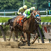 War Story with jockey Javier Castellano up wins the 129th running of The Brooklyn Invitational at Belmont Park June 10, 2017 in Elmont, N.Y.  Photo by Skip Dickstein