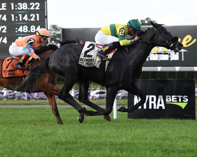 Forty Under wins the 2018 Pilgrim Stakes<br /> Coglianese Photos/Viola Jasko
