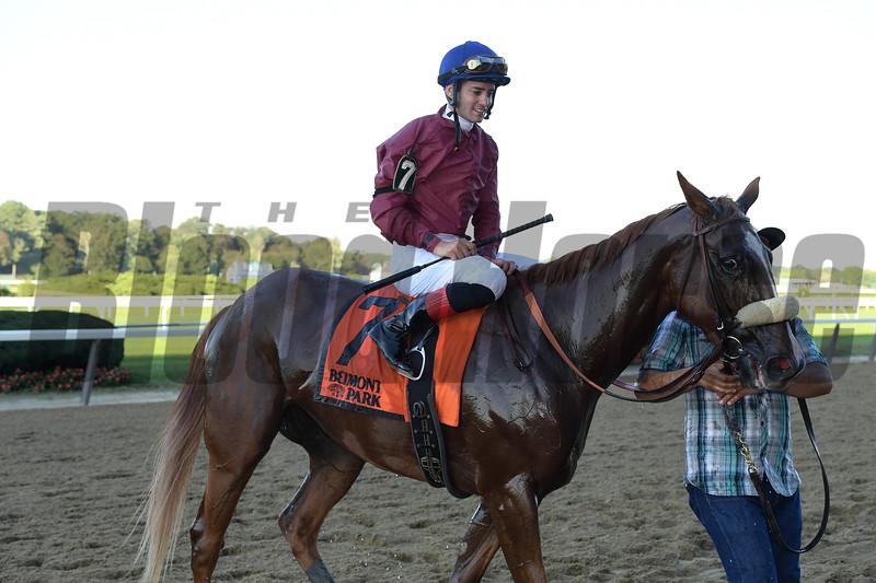Californiagoldrush wins the 2018 Sands Point Stakes at Belmont Park. Photo: Coglianese Photos/Joe Labozzetta