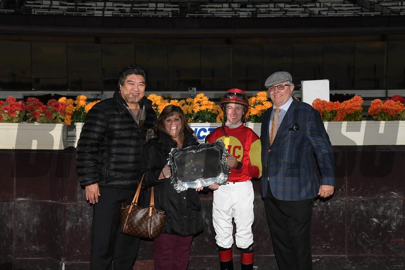Yorkiepoo Princess wins 2018 Autumn Days Stakes at Aqueduct. Photo: Coglianese Photos