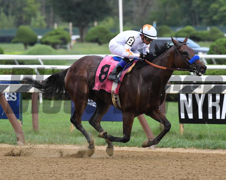 Dream Tree wins the Prioress Stakes at Saratoga Sunday, September 2, 2018. Photo: Coglianese Photos