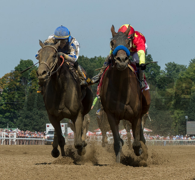 Abel Tasman wins the 71st running of The Personal Ensign at the Saratoga Race Course Aug. 25, 2018 in Saratoga Springs, N.Y.  Photo by Skip Dickstein/Tim Lanahan