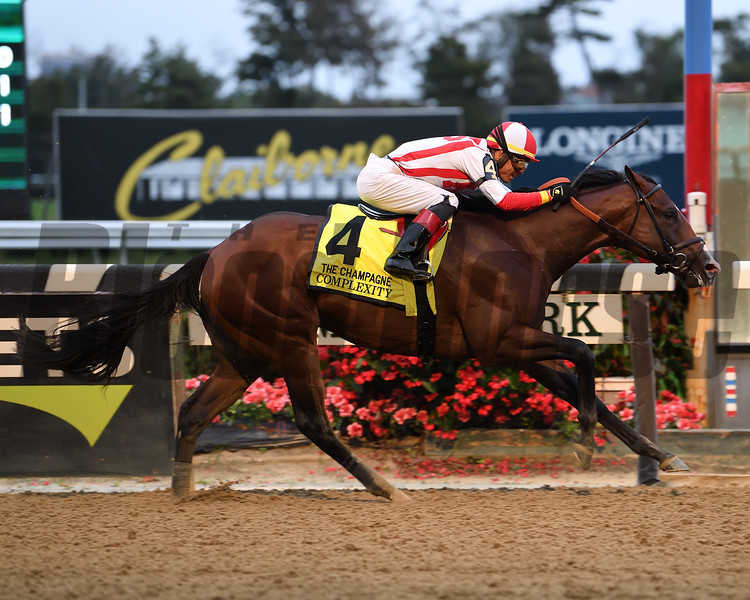 Complexity wins the 2018 Champagne Stakes at Belmont Park<br /> Coglianese Photos/Viola Jasko