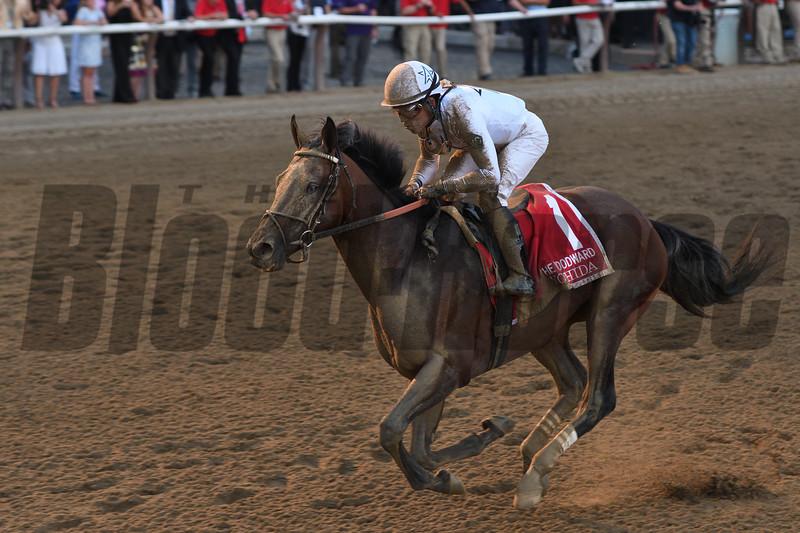 Yoshida wins the 2018 Woodward Stakes<br /> Coglianese Photos/Annette Jasko