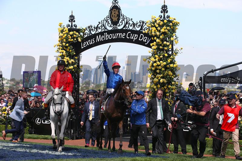 Cross Counter, Kerrin McEvoy, Melbourne Cup, Flemington Racecourse, November 5, 2018