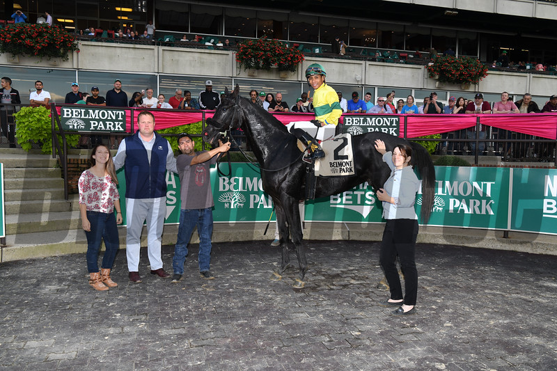 Forty Under wins the 2018 Pilgrim Stakes at Belmont Park. Photo: Coglianese Photos