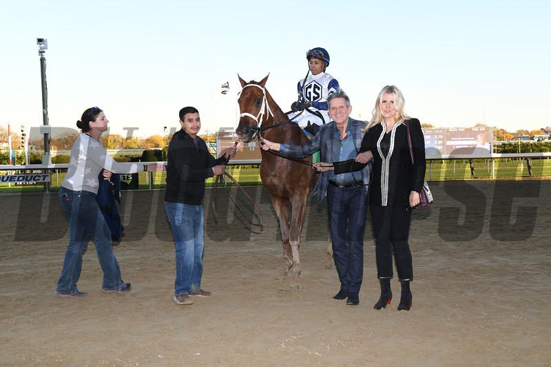 Vekoma wins 2018 Nashua Stakes at Aqueduct. Photo: Coglianese Photos
