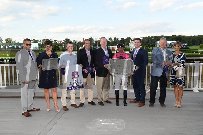 Channel Maker wins 2018 Joe Hirsch Turf Classic at Belmont Park. Photo: Coglianese Photos