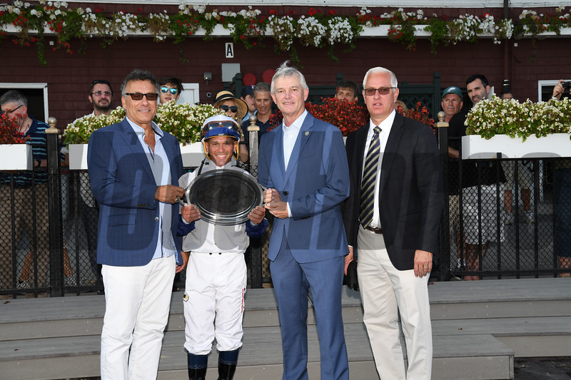 Opry wins the With Anticipation Stakes at Saratoga Wednesday, August 29, 2018. Photo: Coglianese Photos
