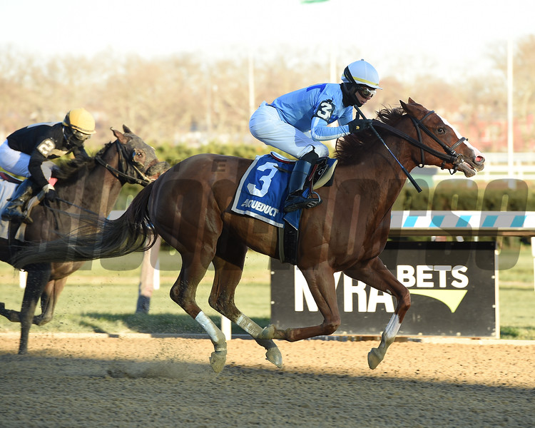 Sassy Agnes wins the 2018 Key Cents Stakes at Aqueduct<br /> Coglianese Photos/Elsa Lorieul
