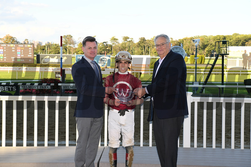 Bankit wins the 2018 Sleepy Hollow Stakes at Belmont Park. Photo: Coglianese Photos