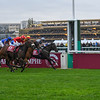 Mabs Cross wins the 2018 Prix De Le L'Abbaye De Longchanmp Longines,  Qatar Prix de l'Arc de Triomphe; Longchamp Racecourse; Paris; France. Photo: Mathea Kelley