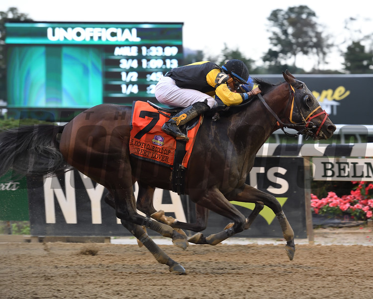 Discreet Lover wins 2018 Jockey Club Gold Cup Stakes at Belmont Park. Coglianese Photos/Susie Raisher