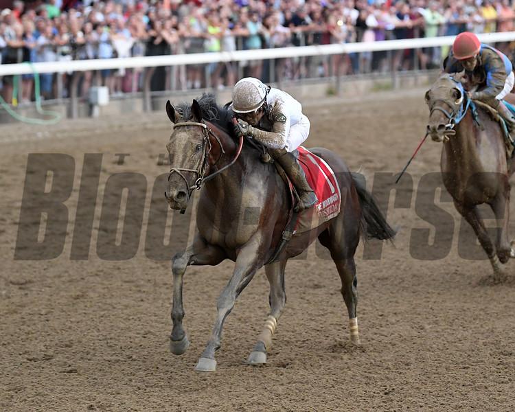 Yoshida wins the Woodward Stakes at Saratoga Saturday, September 1, 2018. Photo: Coglianese Photos/Chelsea Durand