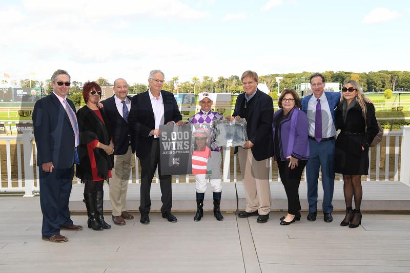 Runaway Lute wins the 2018 Hudson Stakes<br /> Javier Castellano 5,000 wins<br /> Coglianese Photos