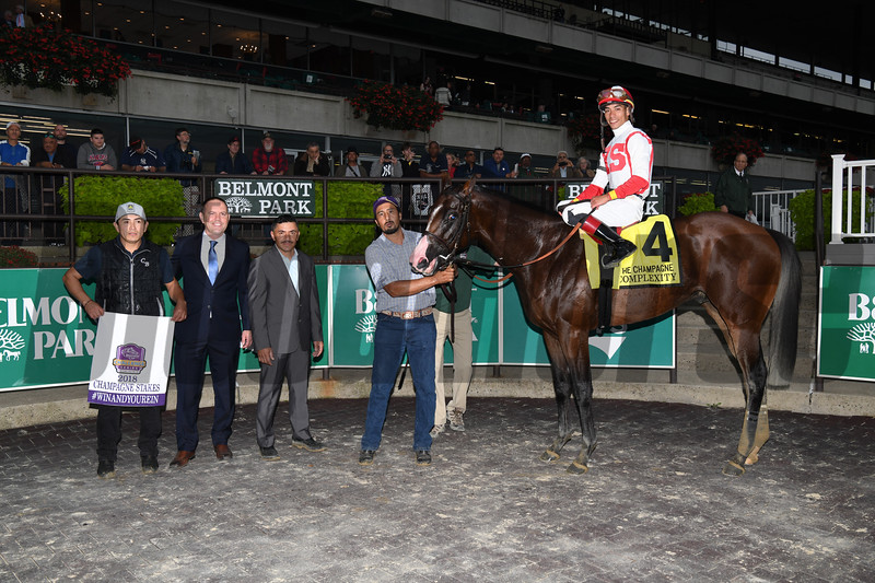 Complexity wins the 2018 Champagne Stakes at Belmont Park<br /> Coglianese Photos