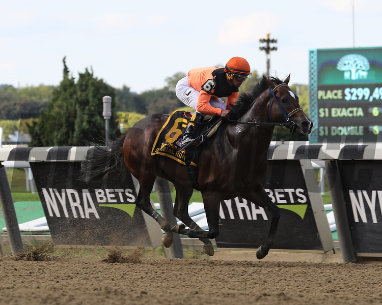 Imperial Hint wins the 2018 Vosburgh<br /> Coglianese Photos/Taylor Ejdys