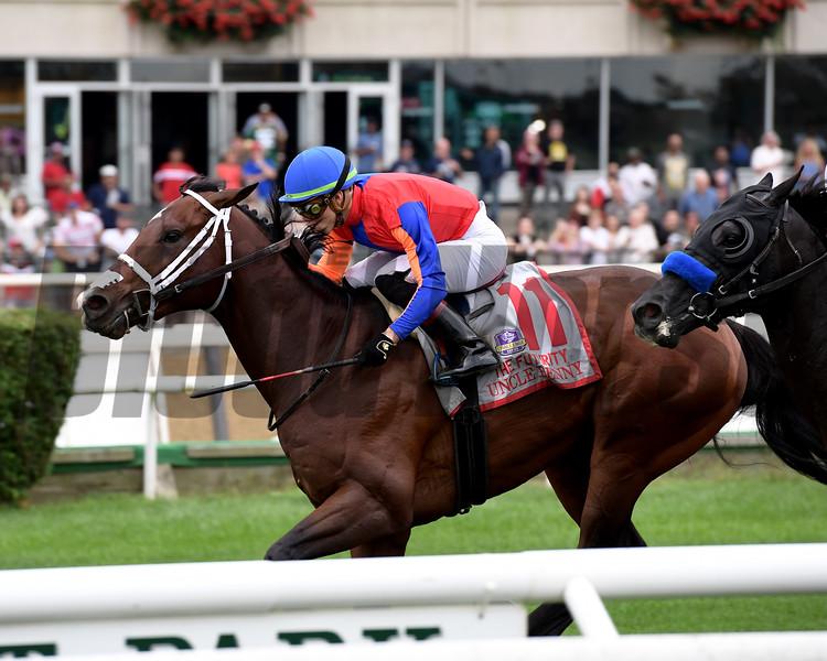 Uncle Benny wins 2018 Futurity Stakes at Belmont Park. Photo: Coglianese Photos/Joe Labozzetta
