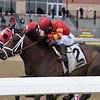 Village King (inside) wins the 2018 Red Smith Stakes<br /> Coglianese Photos/Joe Labozzetta