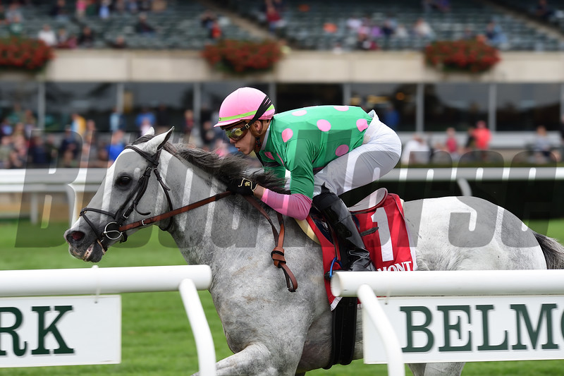 Disco Partner wins the 2018 Belmont Turf Sprint Invitational<br /> Conglianese Photos/Chelsea Durand