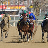 Positive Spirit wins the 2018 Demoiselle Stakes at Aqueduct<br /> Coglianese Photos/Robert Mauhar
