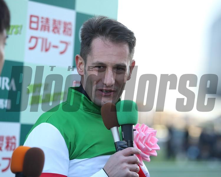 Saturnalia wins the 2018 Hopeful Stakes at Nakayama with Mirco Demuro aboard<br /> Masakazu Takahashi Photo