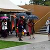 Fans arrive for the Qatar Prix de l'Arc de Triomphe, Longchamp Racecourse, Paris, France. Mathea Kelley