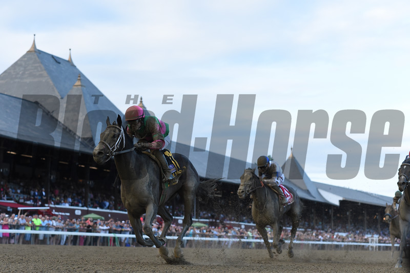 Sippican Harbor wins the Spinaway Stakes at Saratoga Saturday, September 1, 2018. Photo: Coglianese Photos