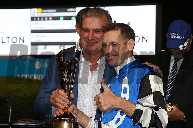 Brave Smash (JPN) under Hugh Bowman wins the Ladbrokes Manikato Stakes (G1) at Moonee Valley on October 26, 2018