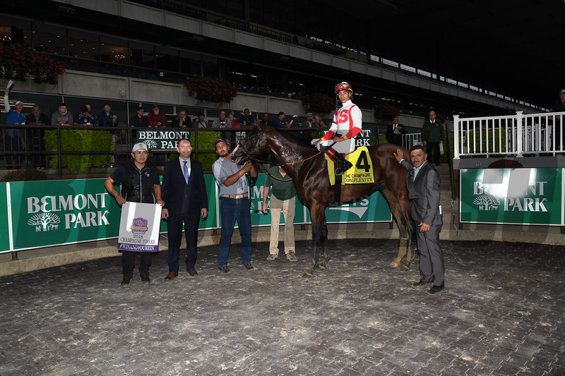 Complexity wins 2018 Champagne Stakes at Belmont Park. Photo: Coglianese Photos
