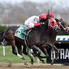 Village King (inside) wins the 2018 Red Smith Stakes<br /> Coglianese Photos/Chelsea Durand