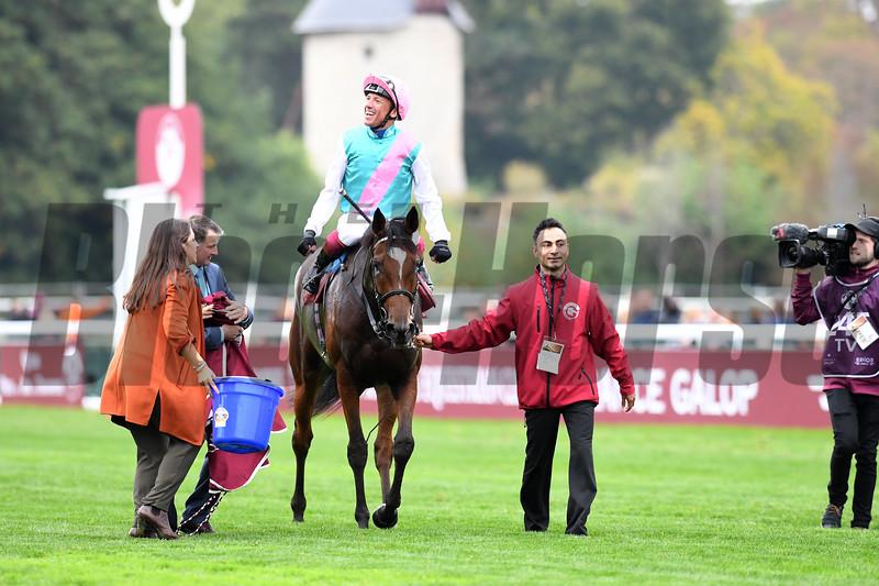 Enable wins 2018 Qatar Prix de l'Arc Triomphe at Longchamp Racecourse. Photo: Mathea Kelley