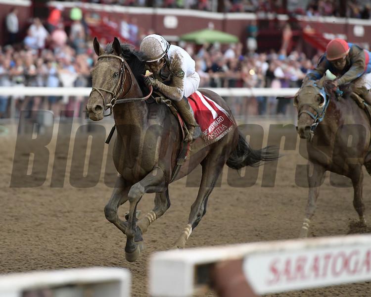 Yoshida wins the Woodward Stakes at Saratoga Saturday, September 1, 2018. Photo: Coglianese Photos/Joe Labozzetta